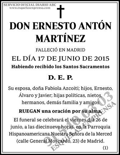 Ernesto Antón Martínez